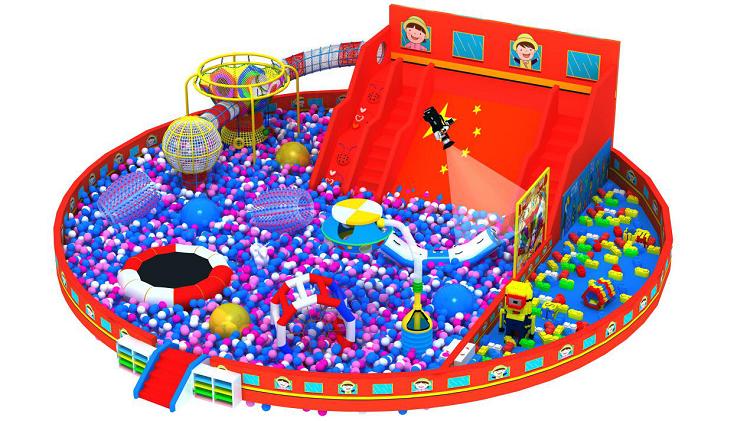 大型室内体能概念主题综合体儿童乐园,小勇士体验式儿童乐园,网红项目儿童乐园示例图4