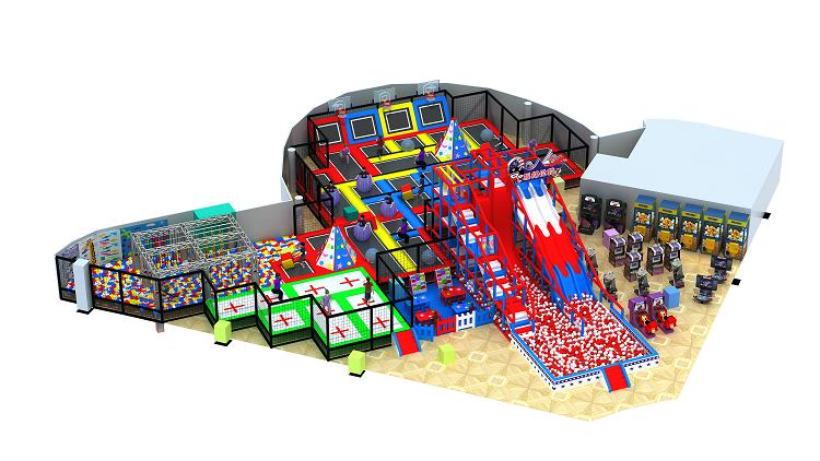 大型室内体能概念主题综合体儿童乐园,小勇士体验式儿童乐园,网红项目儿童乐园示例图3