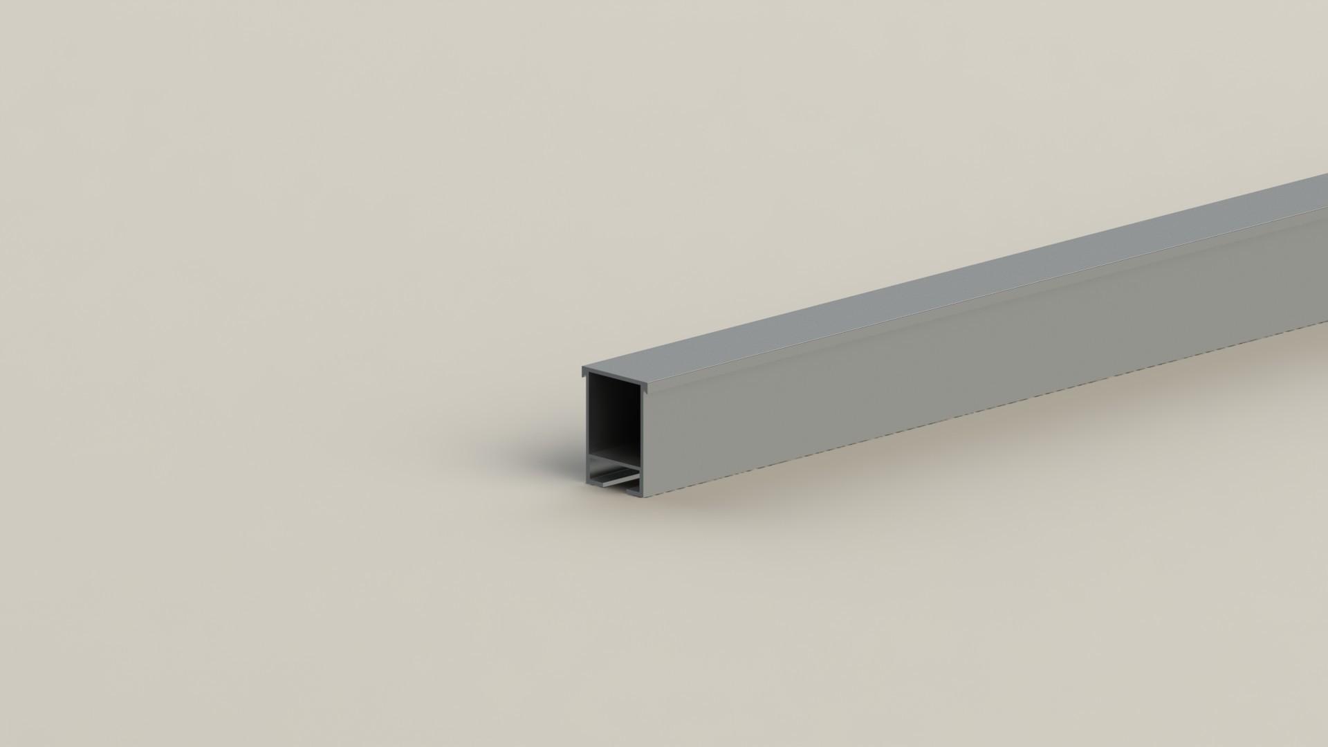 厂家直销光伏支架-铝合金卡扣型导轨示例图1