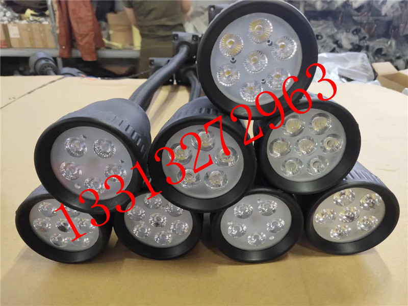 220VLED分散片照明灯 50D软管万向小方座工作灯 5珠工作灯 LED机床工作灯示例图13