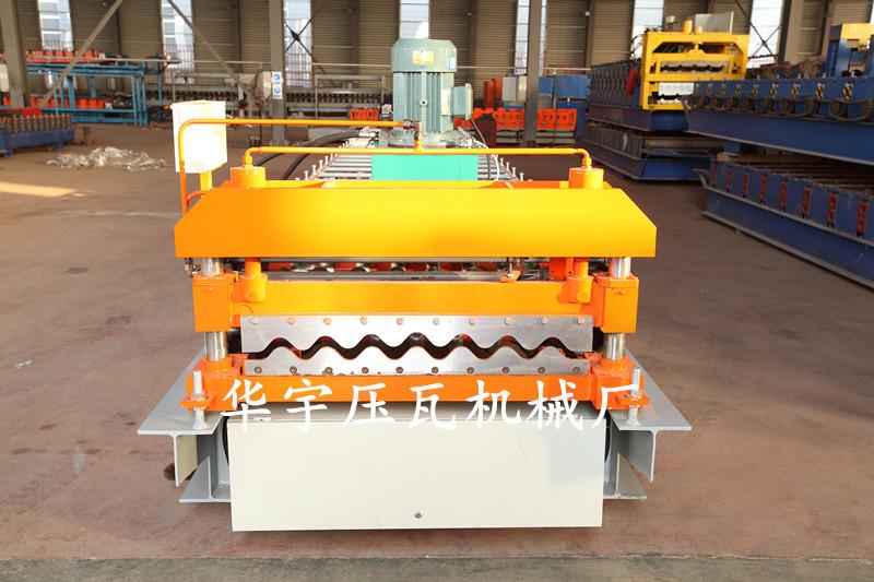 华宇压瓦机供应780横挂板机 大圆弧压瓦机 彩钢墙板成型设备示例图13