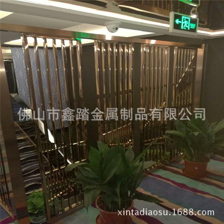 佛山酒店做旧铝板镂空屏风 青古铜铝板屏风隔断厂家示例图9