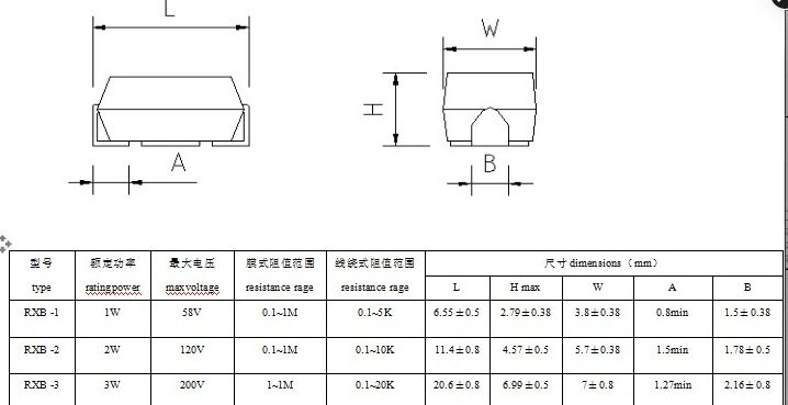 大功率 电阻 3W 15R J  5% 贴片电阻示例图5