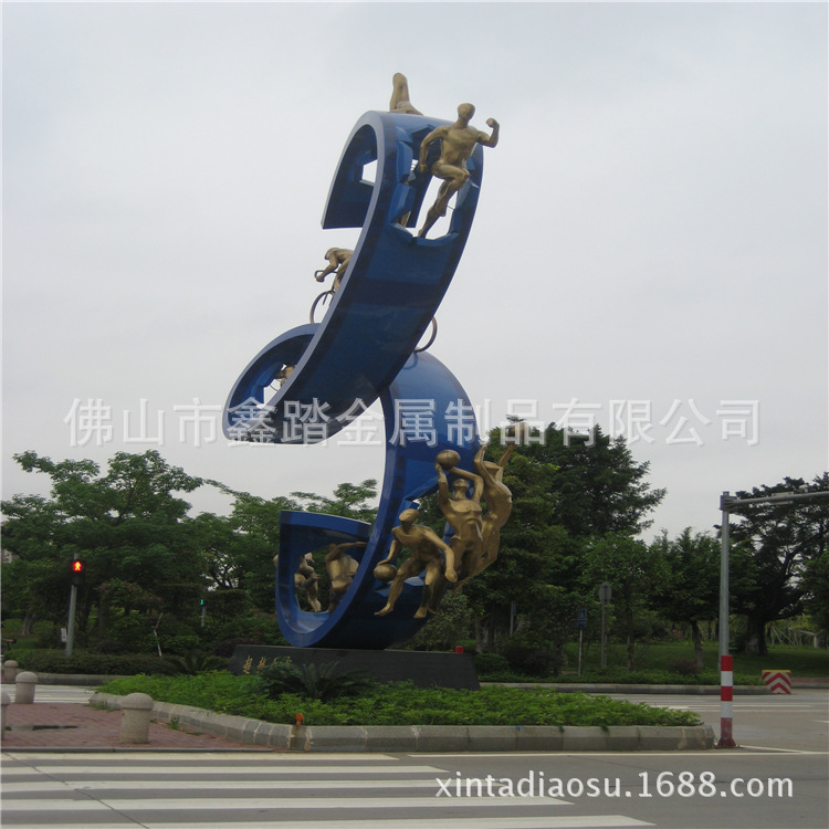 贵阳购物中心广场不锈钢雕塑专业生产厂家示例图8