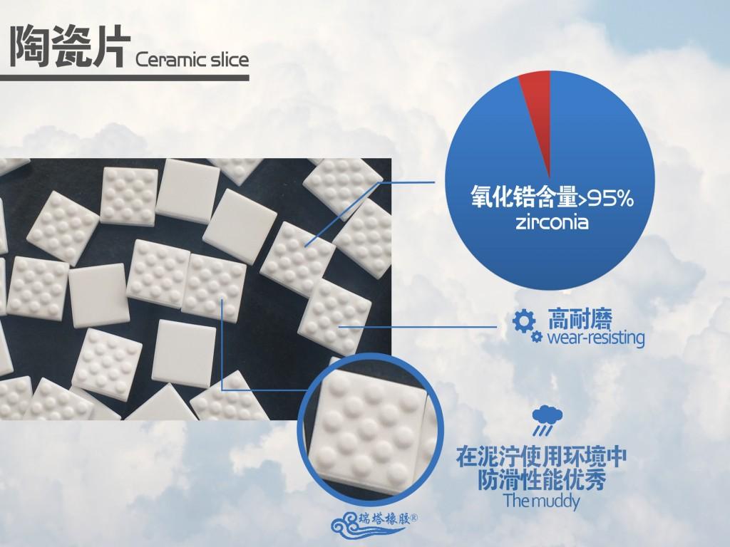 无缝陶瓷包胶胶板,耐磨高效陶瓷包胶面板示例图5