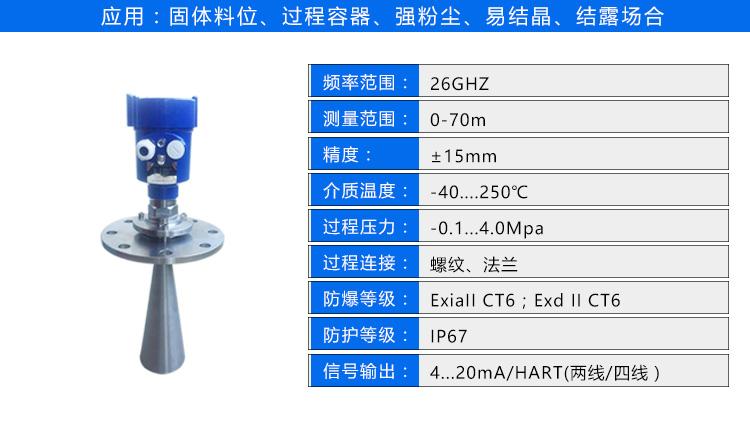 雷达液位计厂家价格型号 智能雷达液位计 DN25 DN50 4-20mA hart协议 RS485 吉创示例图15