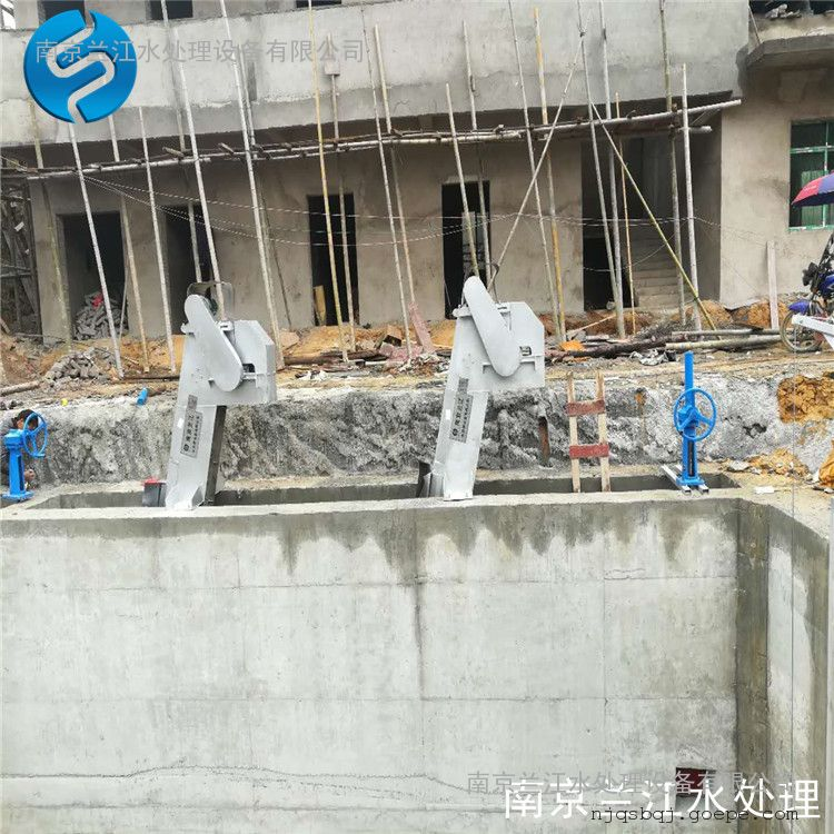 南京兰江GSHZ回转式格栅清污机,猪粪格栅捞污机示例图13