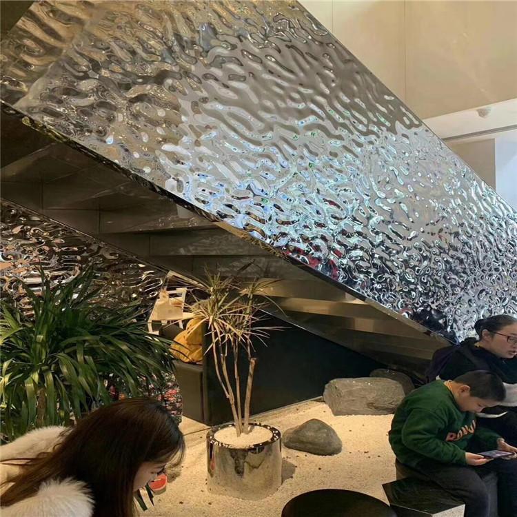 水波纹不锈钢板 3D立体蜂窝 镜面水波纹不锈钢板 天花装饰水波纹示例图2