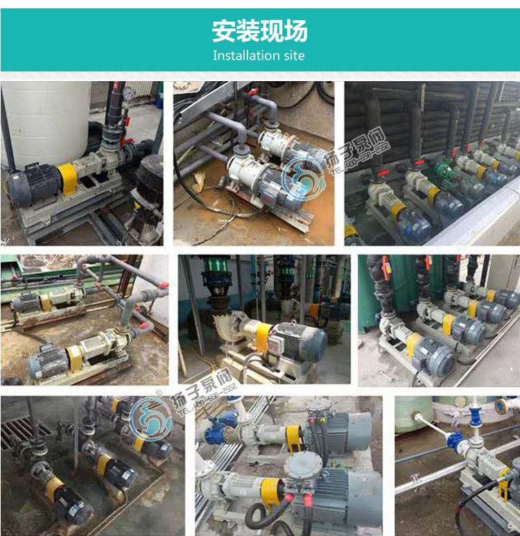 32LHY-20耐腐蚀液下泵 氟塑料液下泵 脱硫泵 脱硝泵 厂家直销示例图14