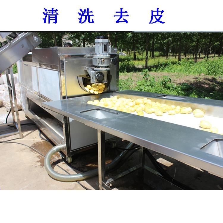 利杰LJ-5000速冻薯条油炸流水线/利杰自动刮渣不锈钢薯条成套油炸流水线示例图3
