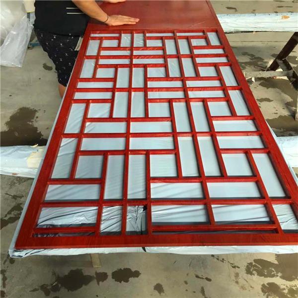 仿古铝窗花中式窗花定制 朝阳会所焊接造型铝屏风 满足审美需求铝窗花示例图12