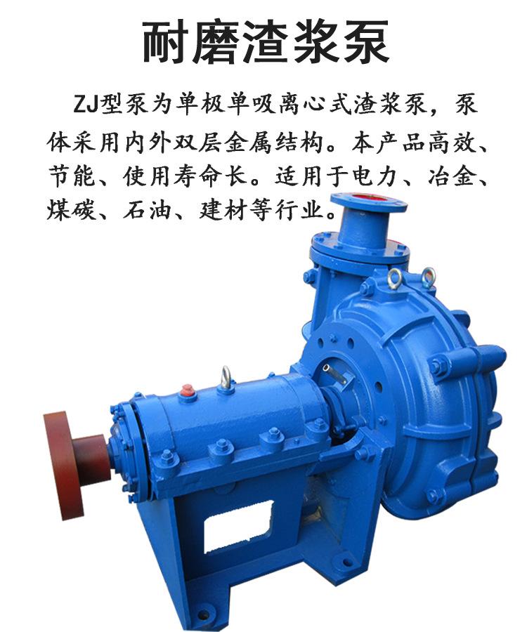 奧泉廠家生產ZJ礦用渣漿泵 無堵塞排污泵 離心式渣漿泵 柴油機離心泵 機械密封浮選泵示例圖3