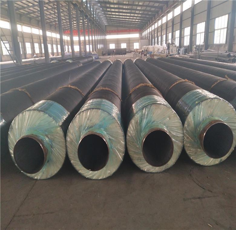 钢套钢直埋保温钢管 供暖用聚氨酯保温钢管 预制聚氨酯保温管厂家示例图4