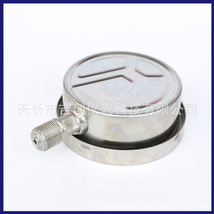 耐震压力表 YN100B 不锈钢充油压力表 气压表耐震压力仪表 压力表 304 316示例图6