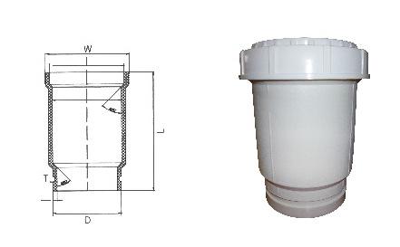 hdpe沟槽式静音排水管,FRPP法兰静音排水管,沟槽PE管,PP管示例图6