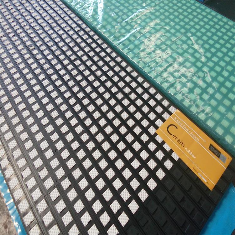山西高平煤矿用滚筒包胶陶瓷胶板  陶瓷胶板价格示例图5
