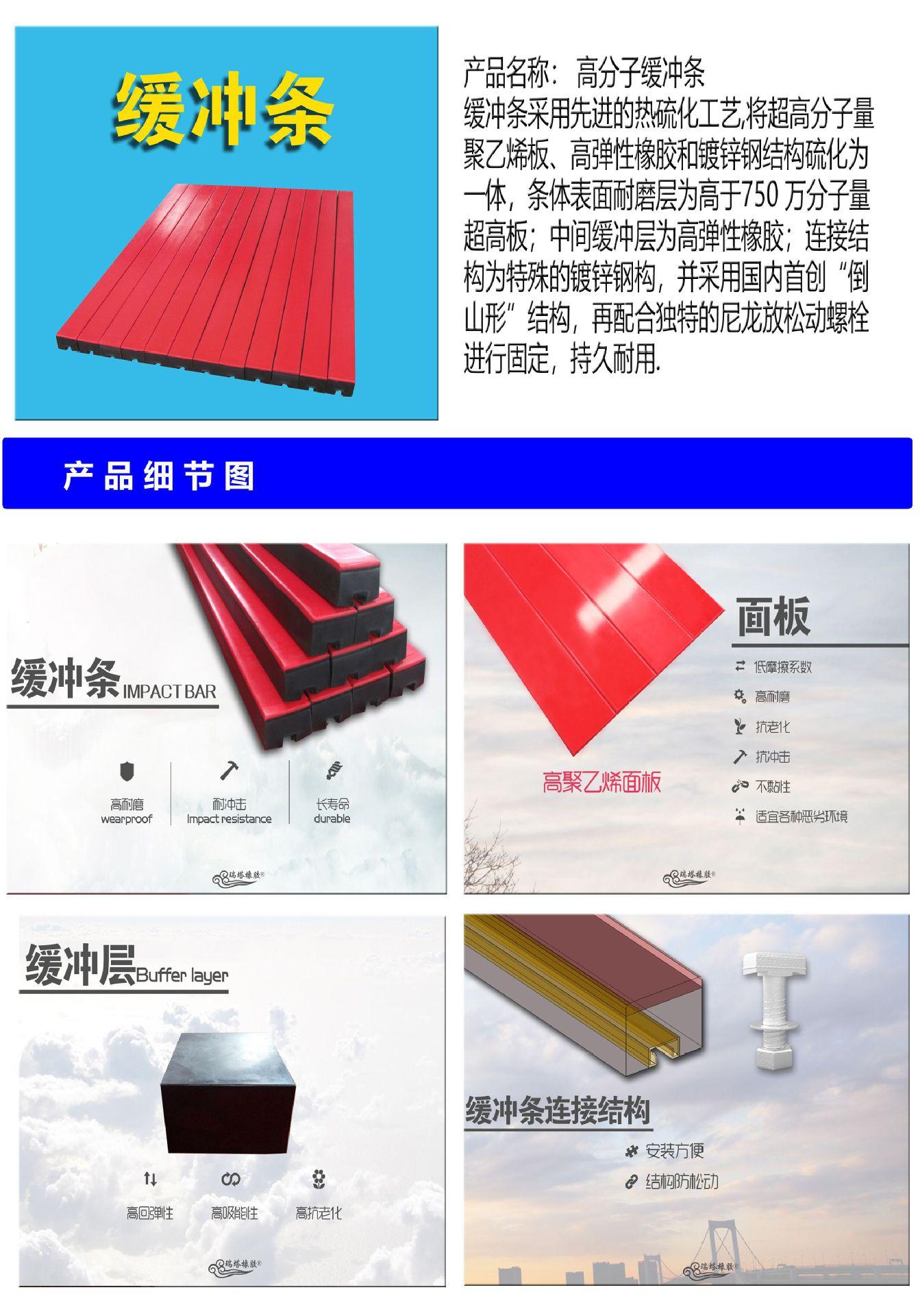 甘肃 山西 内蒙古内蒙古电厂专供耐磨型缓冲滑条 缓冲橡胶条示例图1