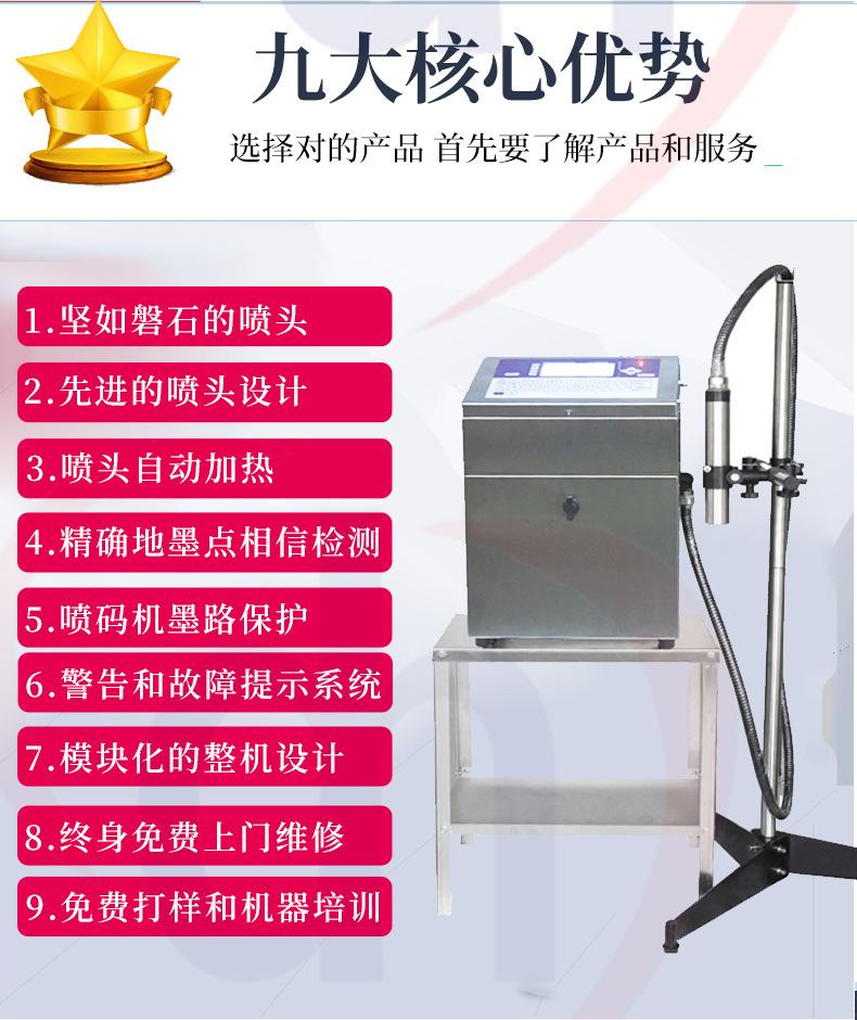 东晖DH680供应河南郑州周口亳州阜阳申瓯喷码机食品包装袋打码机示例图9