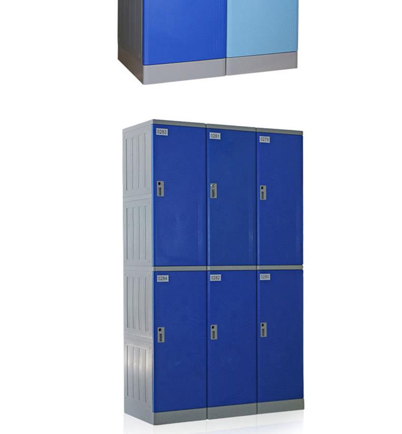 浴室柜abs更衣柜游泳馆酒店员工塑料更衣柜防生锈储物柜厂家直销示例图9