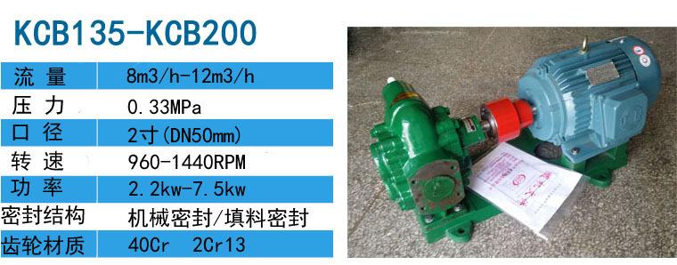 泊头齿轮泵KCB-135(2CY-8/0.33)齿轮泵采用机械密封,铜套寿命长示例图3