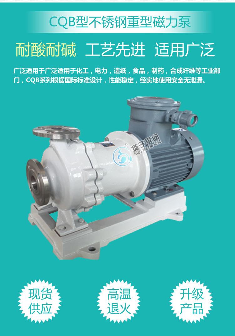 不锈钢磁力泵 316L不锈钢耐腐蚀碱液泵 耐高温化工磁力泵 烧碱泵示例图3