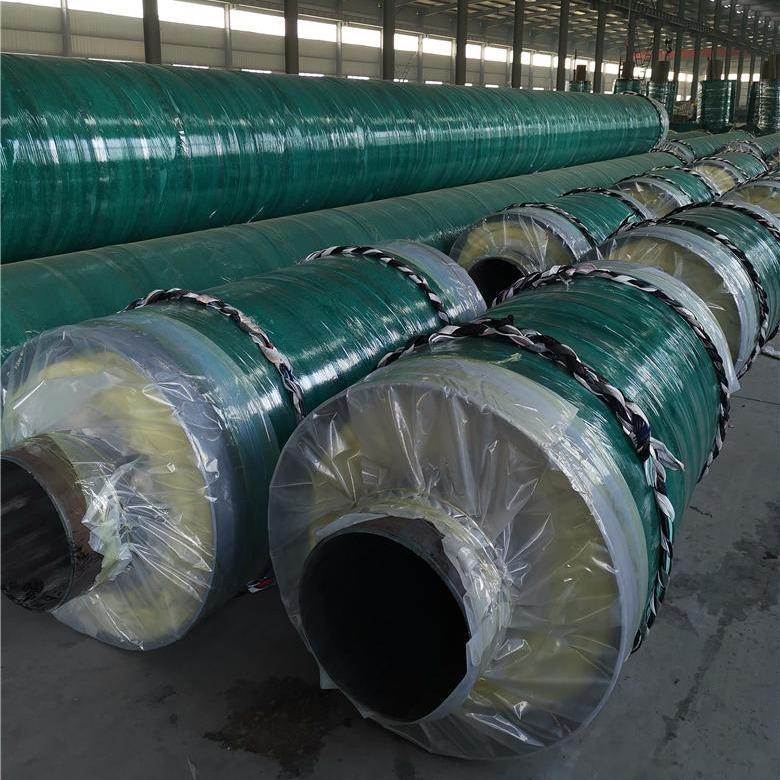 钢套钢直埋保温钢管 供暖用聚氨酯保温钢管 预制聚氨酯保温管厂家示例图5