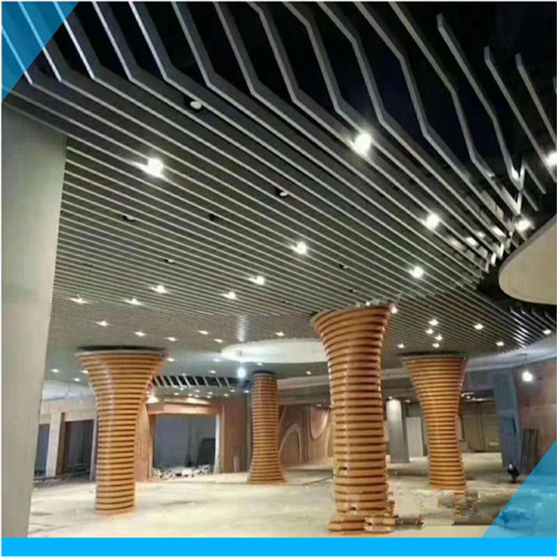 弧形铝方通 弧形铝吊顶厂家 波浪铝方通 弧形铝方通吊顶天花 工厂直销价格优惠质量保证货期快示例图12