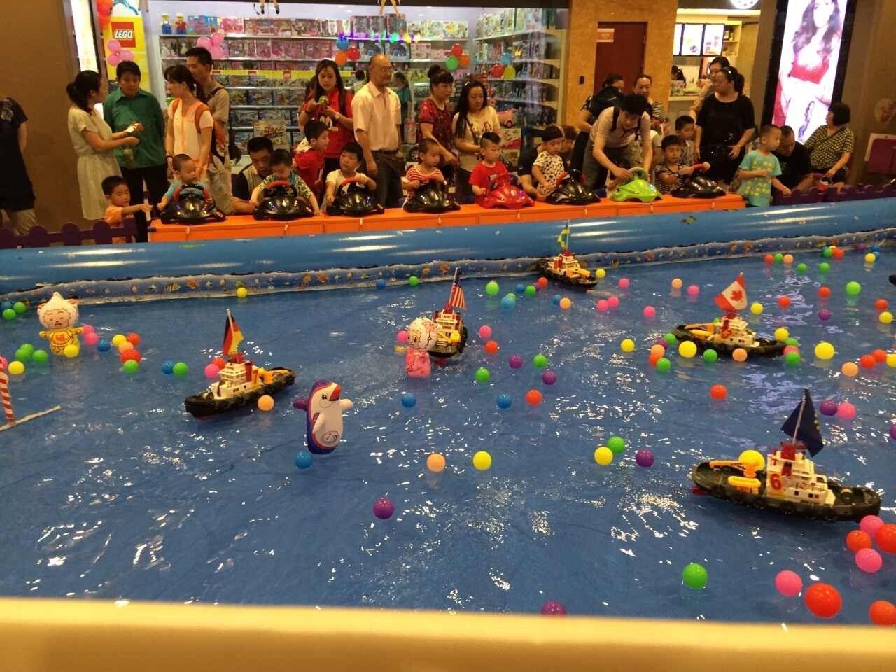 大洋游乐新品上市方向盘遥控船 儿童新造型方向盘遥控船游乐设备示例图6