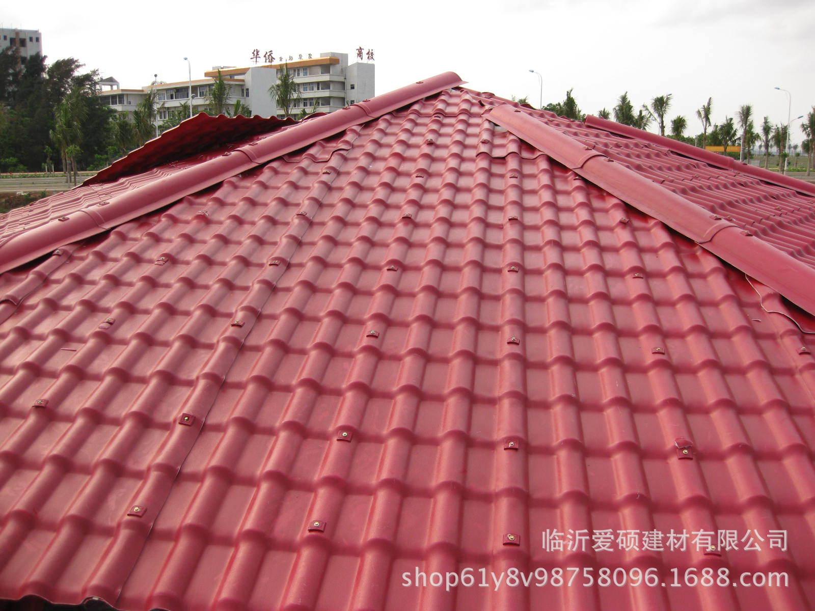 廠家直銷 東營合成樹脂瓦 平改坡裝飾瓦 屋頂瓦 別墅瓦示例圖5