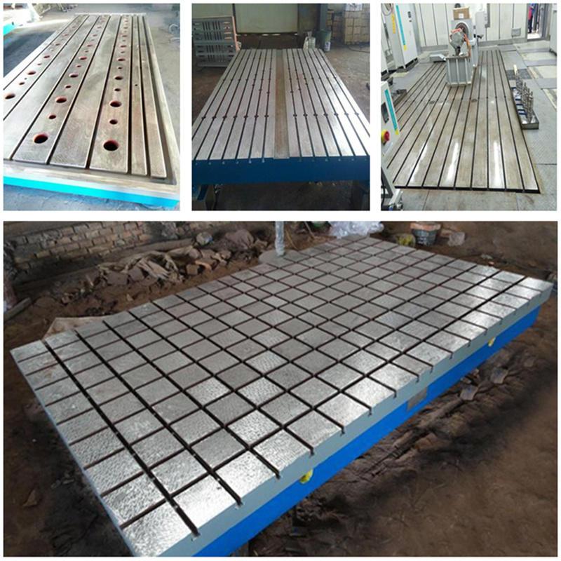 t型槽铸铁平台 铸铁T型槽平台 2米3米4米5米6米人防焊接铸铁平台平板 佳鑫支持来图定做示例图3
