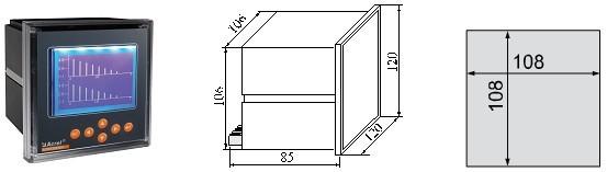 安科瑞多功能電力諧波儀表ACR330ELH 2-63次各次諧波測量示例圖10