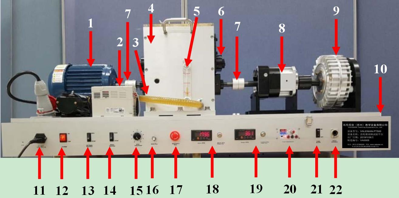 优质进口PT机械电机综合模拟实验台,旋转机械故障诊断模拟实验台,诊断和转子动力学模拟教学,简装版机械故障综合模拟试验台示例图1