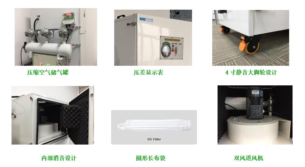 卡艾环境工业集尘设备 脉冲布袋除尘器 车间除尘设备  集尘设备示例图3