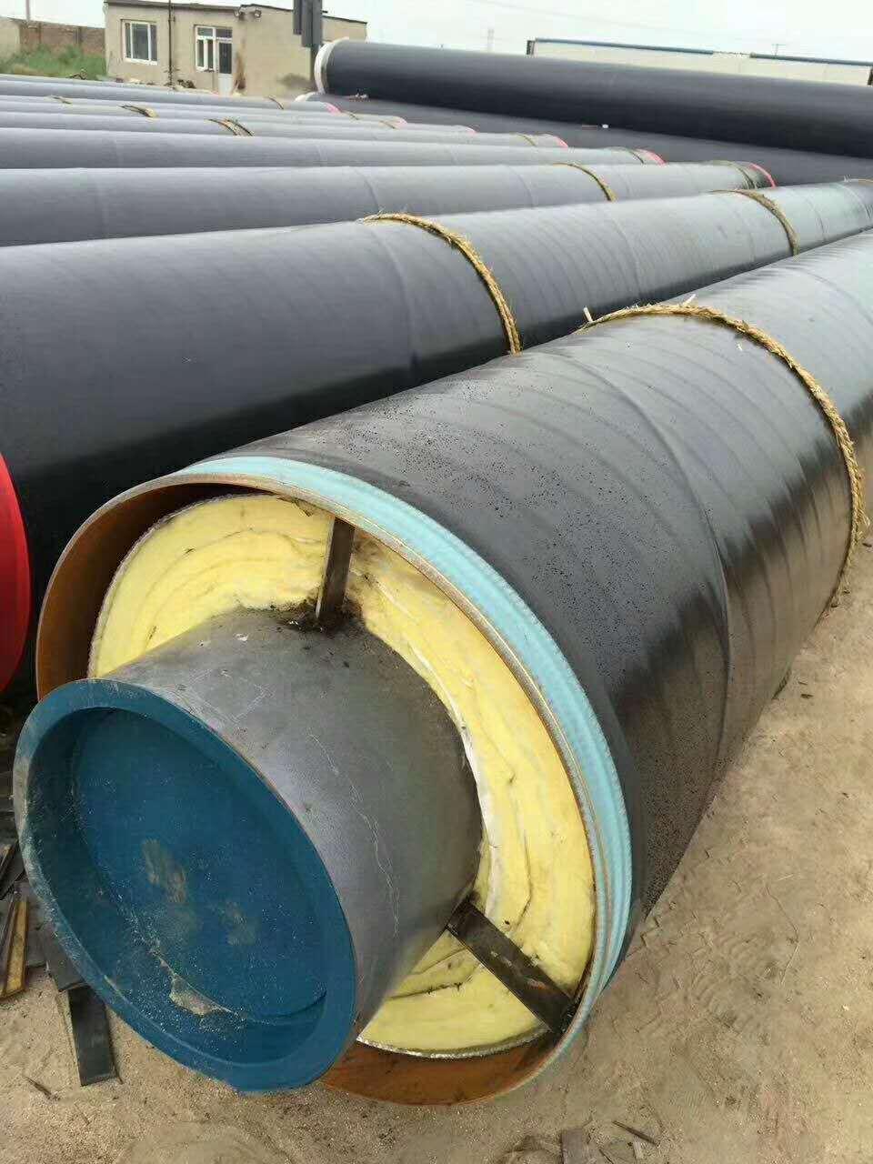 钢套钢直埋保温钢管 供暖用聚氨酯保温钢管 预制聚氨酯保温管厂家示例图7