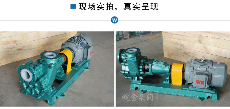氟塑料自吸泵,65FZB-45L襯四氟自吸泵,防腐蝕耐酸堿合金化工離心泵,吸酸堿泵380V示例圖16