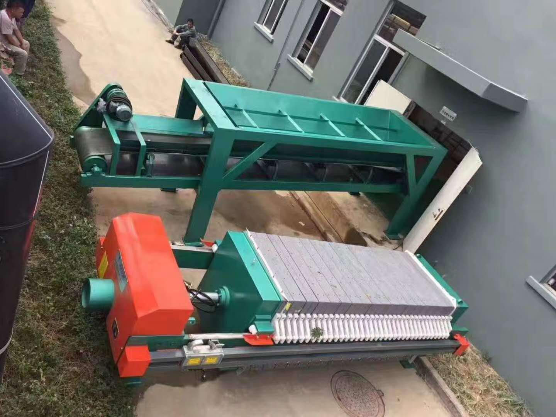 钻孔灌注桩泥浆处理设备板框压滤机示例图4