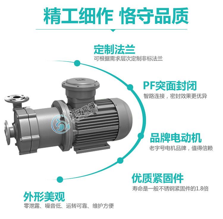 32CQ-15不锈钢磁力驱动化工泵金属磁力泵防腐防爆磁力泵 厂家直销示例图9