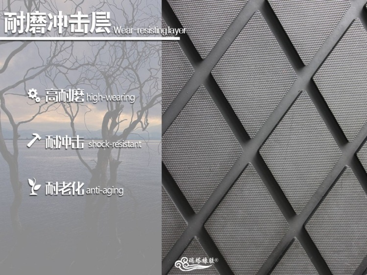 滚筒包胶耐磨菱形胶板平面胶板规格示例图3