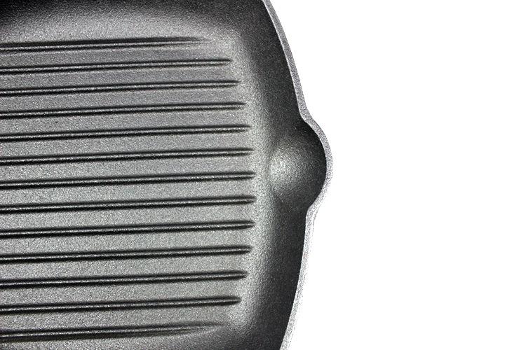 加大铸铁牛排煎锅条纹锅加厚家用电磁炉不粘锅平底锅鑄鐵鍋定做示例图33