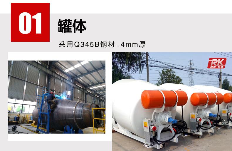 河南瑞控 小型混凝土罐車 2.5方攪拌車  混凝土攪拌車 可定制示例圖4