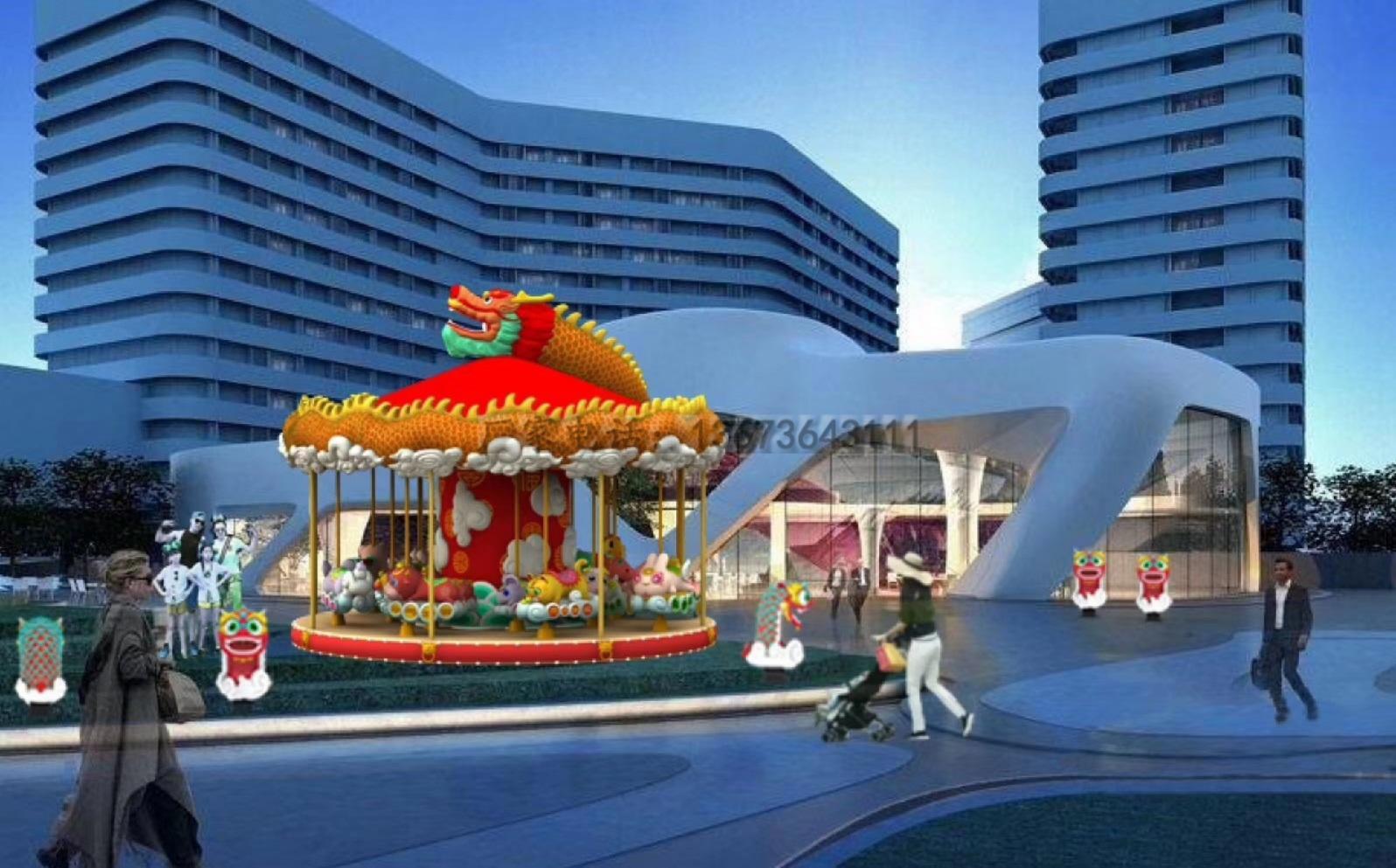 儿童游乐设备桑巴气球 厂家直销 郑州大洋8臂桑巴气球公园游乐示例图27