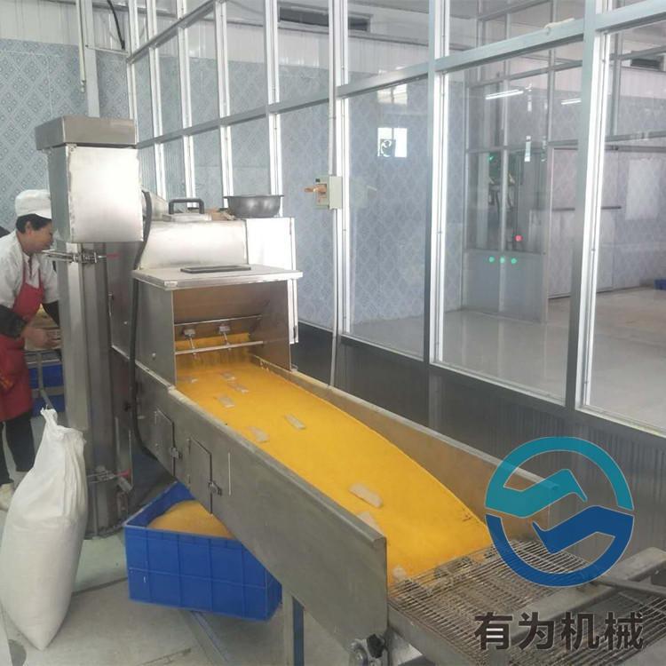 可定制帶魚裹粉機 自動化刀魚上粉沾粉機 有為機械銷售速凍奶酪球裹漿上糠機流水線