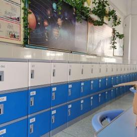 山东ABS塑料书包柜-宿舍塑料储物柜-ABS塑料更衣柜-校园全塑储物柜厂家直供