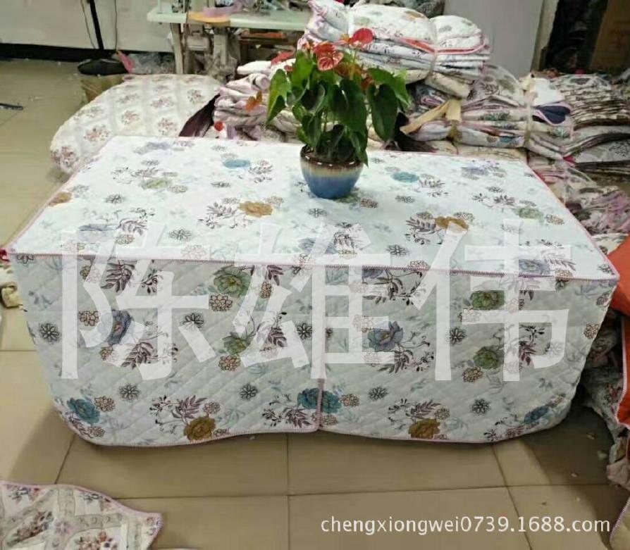 厂家生产钻石绒茶几四开棉桌罩 防水加棉桌布 防油加棉桌布示例图3
