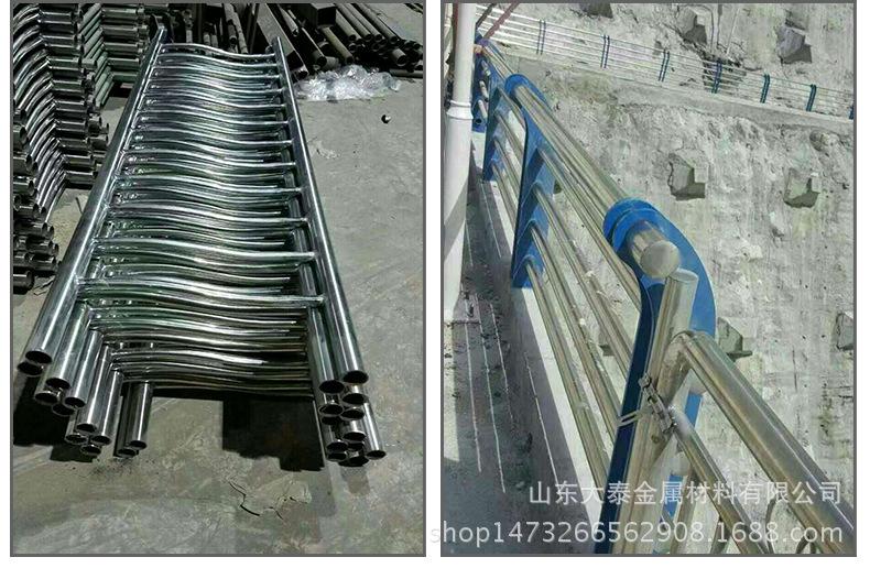 護欄鋼板立柱 不銹鋼復合管護欄鋼板立柱 防撞護欄鋼板立柱加工示例圖12