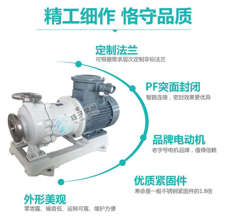 CQB重型不锈钢磁力泵 大流量 高扬程 防爆型零泄露化工泵厂家直销示例图9