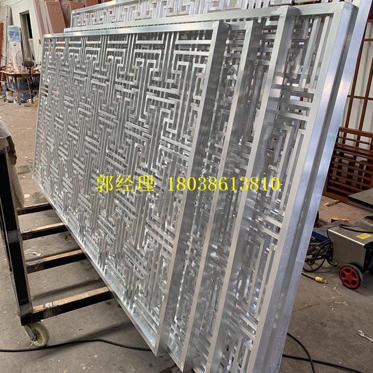 苏州仿古镂空花窗定制厂家 铝合金四方管直销 匠铝中式铝窗花商家示例图11