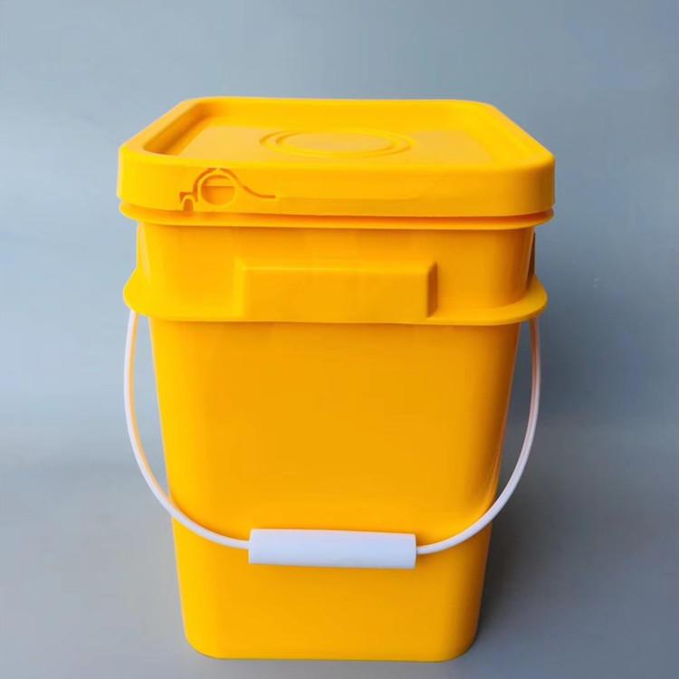 方形涂料桶  塑料桶生产厂家  15升提手塑料桶方桶