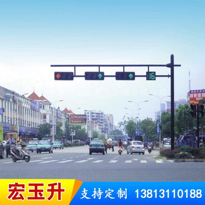 信號燈桿八角監控桿、燈桿廠家、懸臂燈桿、機動車信號燈桿 廠家直銷來樣定制