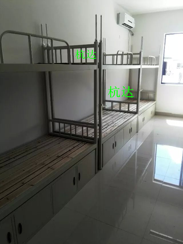 厂家供应学校宿舍双层床定做钢制部队上下公寓床质保5年示例图1